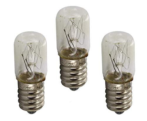Trova una confezione di ricambio di 3 lampadine universali E14 10W per Beko Whirlpool Samsung Bosch Beko Indesit Russell Hobbs frigorifero e congelatore