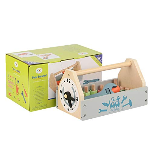 Wenhe Caja de herramientas de madera para niños a partir de 18 meses