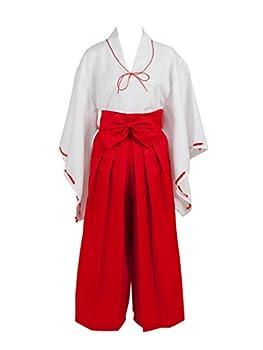 AnimeGo  Inuyasha Kikyo Simplified Cosplay Costume mp002403  S