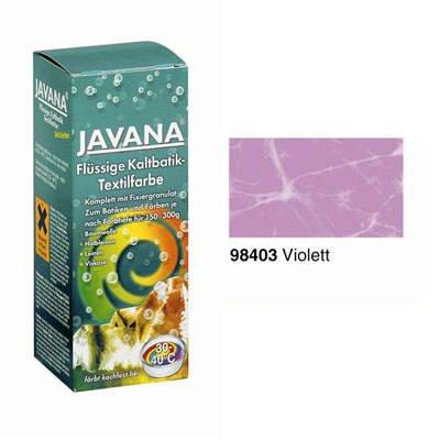Javana-Flüssige Kaltbatik-Textilfarbe Violett 100 ml