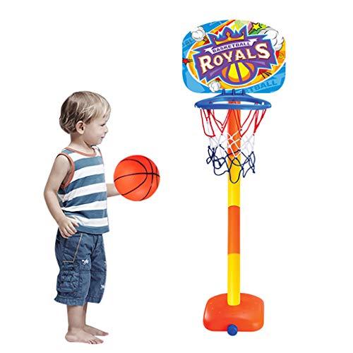 PPangUDing Mini Basketballständer verstellbar Kids Basketball Stand Basketballkorb Basketball tragbar Boards Spielzeug-Set mit Basketball und Pumpe Kinder Geschenk für Indoor Outdoor (Mehrfarbig)