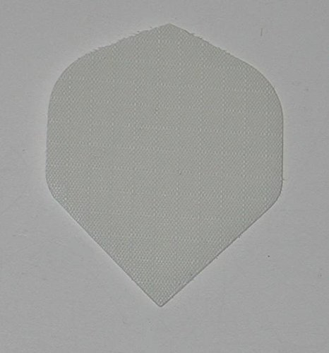 US Dartpfeile – 3 Sets (9 Flügel) Weiß Nylon Standard Dart-Flights – Stoff, Ripstop