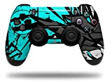 WraptorSkinz Skin compatible with Sony PS4 Dualshock Controller PlayStation 4 Original Slim and Pro Baja 0040 Neon Teal (CONTROLLER NOT INCLUDED)