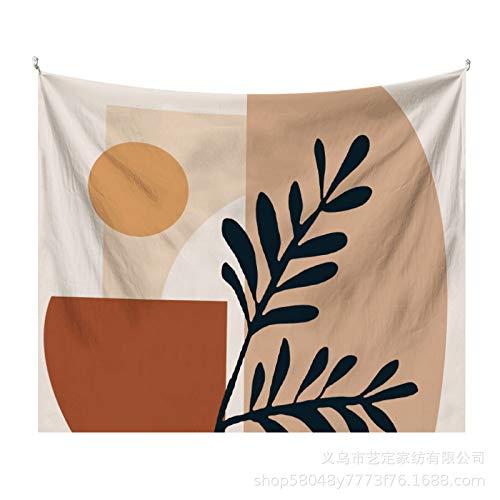 CNYG Tapiz de Hoja Simple Morandi Fondo literario Tela Decoración de Pared Tela de decoración artística Morandia-2 3x1.9M(Más Cachemir