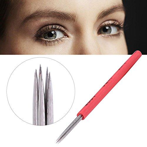 50pcs Aiguille De Tatouage Shading R5, Micro sourcil brouillard, Créer des sourcils parfaits Brouillard aiguille manuelle, Lame à sourcils pour le maquillage des sourcils semi-permanent