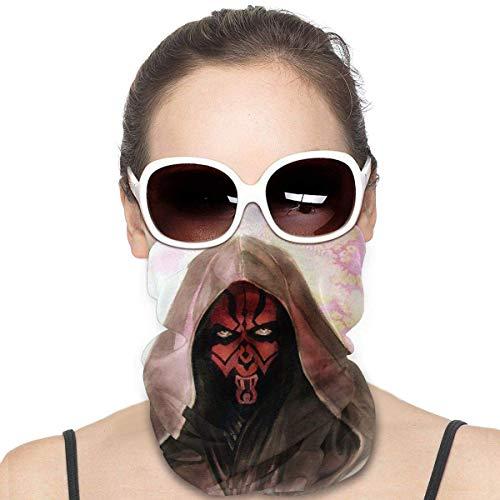 N / A Star Wars Darth Maul Sports Riding Mask Headwear Face Scarf Cover Unisex Outdoor Headband Turban Neck Windproof Case Sun Protection Seamless Bandana 50 X 25 Cm