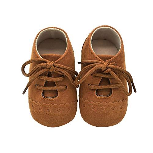 DEBAIJIA Weiches Leder Baby Jungen Mädchen Schuhe Wildleder Kleinkinder Schuhe rutschfeste Mode Lässig Prewalker Schuhe Geeignet für 6-18 Monate Kleinkind Slip-On-Verschluss
