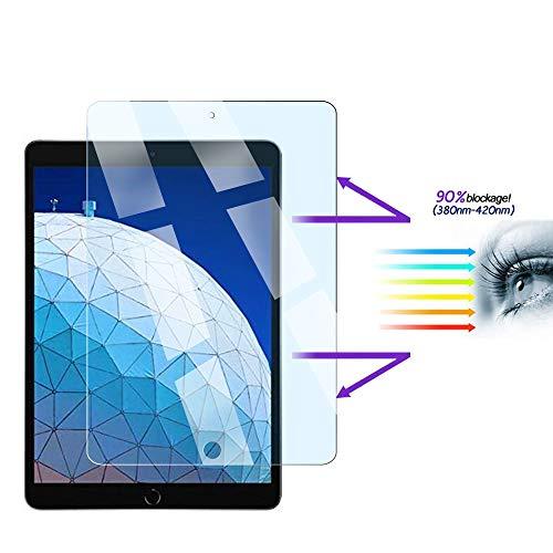 FiiMoo Anti Blue Light Scherm Beschermer Compatibel met iPad Air 3 2019 / iPad Pro 10.5, [Verlicht oogvermoeidheid] [Blokkeert overmatig schadelijk blauw licht en UV] [9H Hardheid]