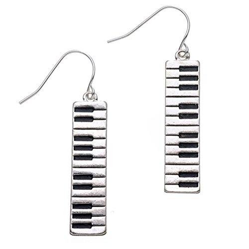 PammyJ Piano Keyboard Dangle Music Earrings | Piano Gifts For Women