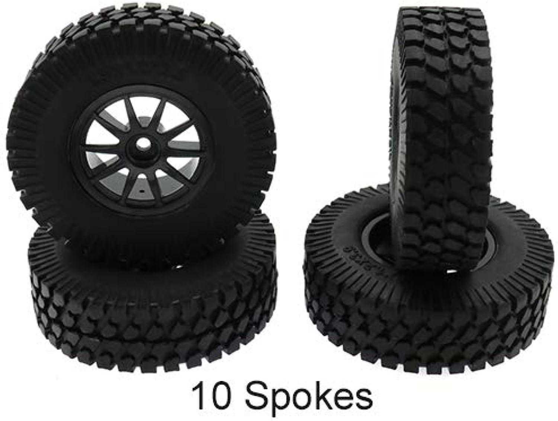 Generic RCAWD 4PCS Set Wheel RimTyre tire Set 1 10 Crawler Car Diameter 100mm Model RC Parts Remote Control Toys C210129C210140 C210131 no Screws