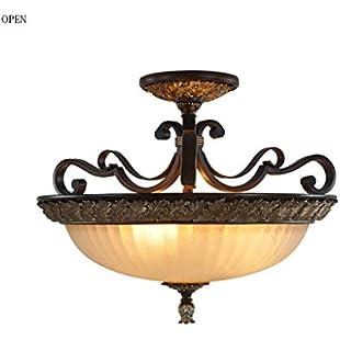 Chandelier Chic Ceiling Light Pendant- LED American Village Resin Iron Ceiling Lamp Bedroom Living Room Kitchen Aisle Lighting E27 -Home Decor:Hitspoker