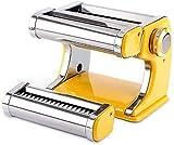 Máquina para hacer fideos, máquina de pasta casera resistente, todo en uno 7 configuraciones de grosor para cortador de prensa de rodillo de masa de lasaña de espagueti fettuccine fresc