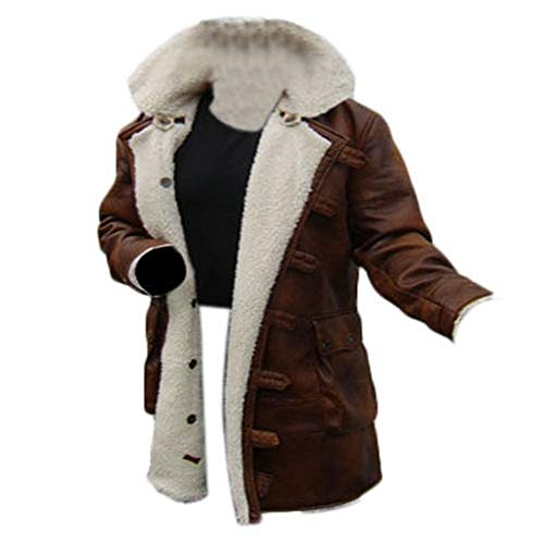Leder-Spot Herren, Damen Bane Mantel 'Tom Hardy - Dark Knight Rises' Vintage Distressed Look Lederjacke (Coffee Brown)
