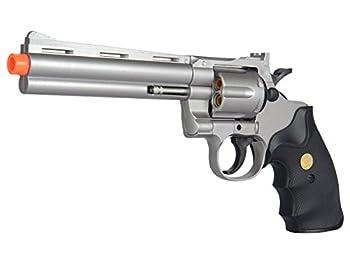 UKARMS Spring Airsoft Gun - 6 Shot 357 Magnum Revolver w/Shells + 6mm BBS  Silver