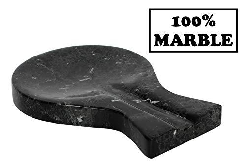 RADICALn Spoon Rest Handmade Marble Black Spatula Fork Ladle Utensil Rest Keeper - Non Wood Non...