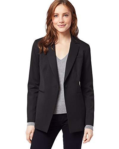Pendleton Women's Petite Size Seasonless One Button Jacket, Black Gabardine 8