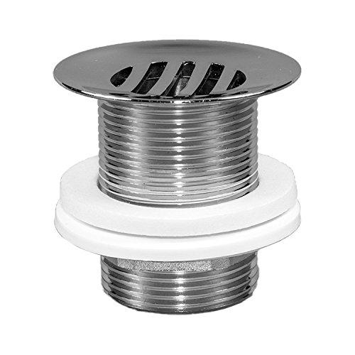 NEG Design Ablaufventil NX18 Free-Flow-Ventil (offen) für Waschbecken ohne Überlauf