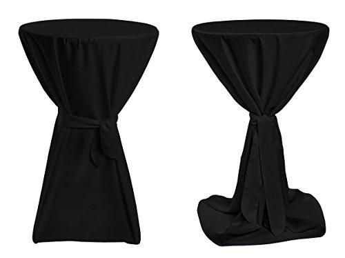 Stehtischhussen Premium - Schwarz 70cm Durchmesser
