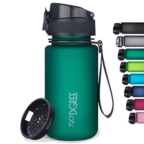 "720°DGREE Botella de Agua ""uberBottle"" +Tamiz – 350ml, 500ml, 650ml, 1000ml, 1500ml   Sin BPA-Free, Impermeable, Reutilizable   para Beber Ideal para niños, Deporte, Escuela, al Aire Libre"