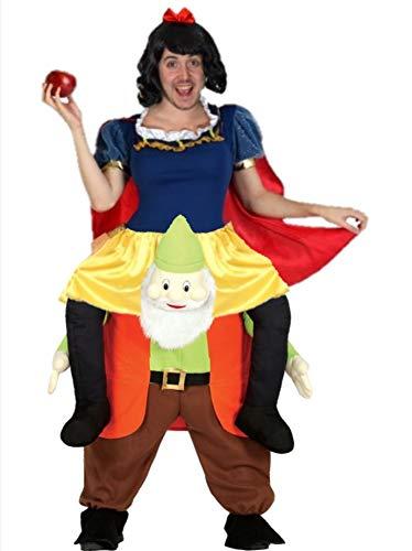 Disfraz de Princesa Nieves a hombros enanito para hombre