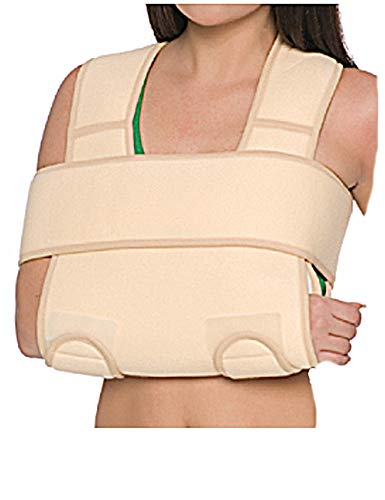Armgelenkbandage Armschlinge Schulter-Arm-Bandage verstärkt Hand-Gelenk 8013 beige L/XXL