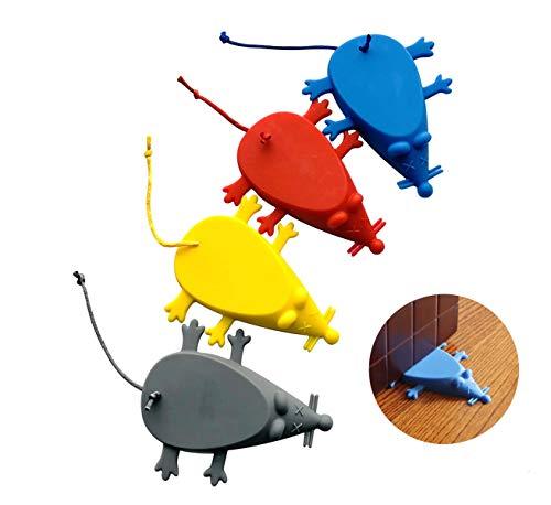 Topes de puerta universal de silicona Ratón Tope para Puerta con Forma de cuña tapón(4 colores)
