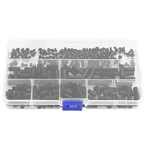 250 Stücke Nylon M2 M3 Male-Female Hex Spalte Standoff Spacer Schraube Mutter Sortiment Kit Platine Reparatur Zubehör mit Aufbewahrungsbox