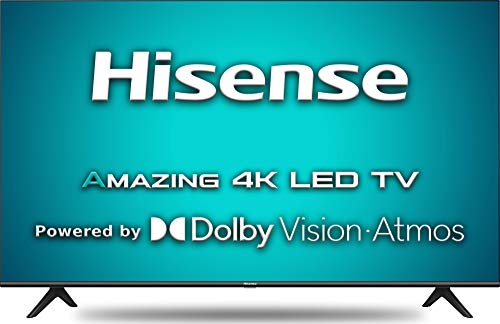 Hisense 108 cm (43 inches) 4K Ultra HD Smart Certified Android LED TV 43A71F (Black) (2020 Model) | with Dolby Vision and Atmos