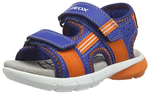 Geox B FLEXYPER BO, Sandali Punta Aperta Bambino, Blu (Royal/Orange C0685), 27 EU