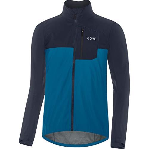 GORE WEAR Chaqueta de ciclismo Spirit para hombre, GORE-TEX INFINIUM, L, Azul cobalto/Azul marino