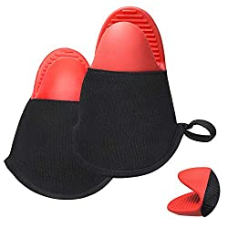 top 10 oven mitts ever Door Moon Oven Gloves, Silicon Oven Gloves Protects heat resistant and non-slip kitchen gloves …