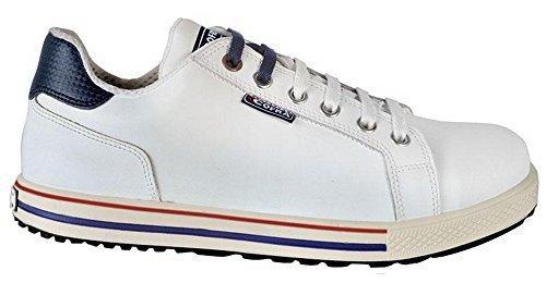 COFRA moderner Sicherheitsschuh, Assist S3 SRC, im Sneaker-Look aus der Old Glories Serie (45, weiß)