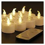 Heinside Sicher Packung mit 6 Elektronischen LED Kerze Flackern Teelicht Bernstein-Glühen mit Fernbedienung LED-Kerze-Partei Flameless Hochzeit (Color : Warm White Remote)
