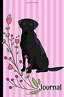 Journal: Anxiety Journal and Coloring Book 6x9 90 Pages Positive Affirmations Mandala Coloring Book - Black Labrador Retriever Pink Cover