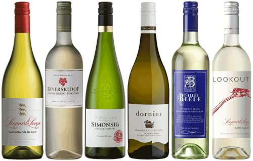 Weinpaket Weißwein aus Südafrika | Probierpaket mit Weinen aus Südafrika (6 x 0.75l) | Trocken und Lieblich | Weine für jeden Geschmack von CAPREO