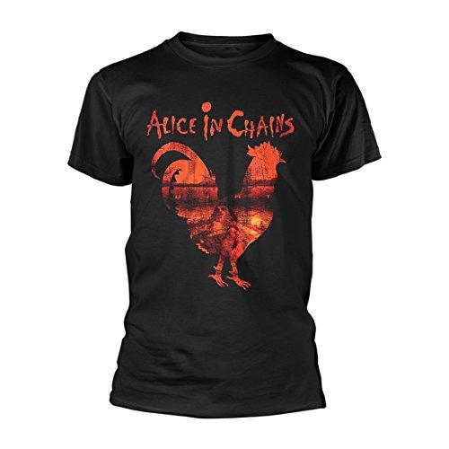 Alice in Chains Rooster Dirt Layne Staley Rock Ufficiale Uomo Maglietta Unisex (Medium)