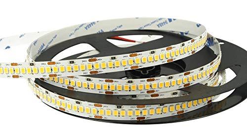 24 V Bobina Strip LED 20 W/M 1200 SMD 2835 5 metros IP20 (blanco cálido 3000 K)