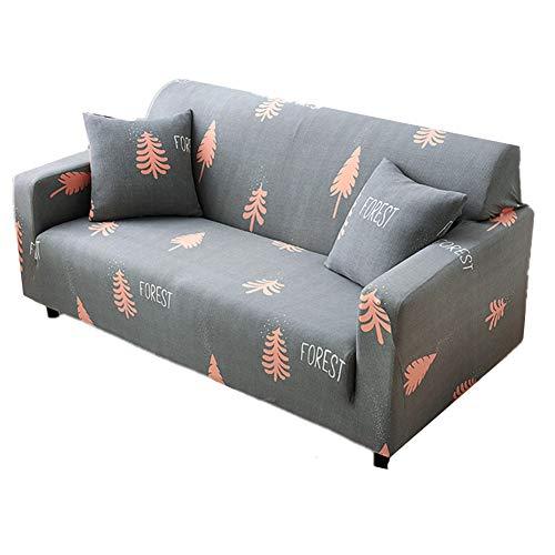 PLUS PO - Fundas de sofá elásticas para sofás de terciopelo aplastado, fundas de sofá de terciopelo, fundas de sofá reclinable para sillones 90-140, color gris