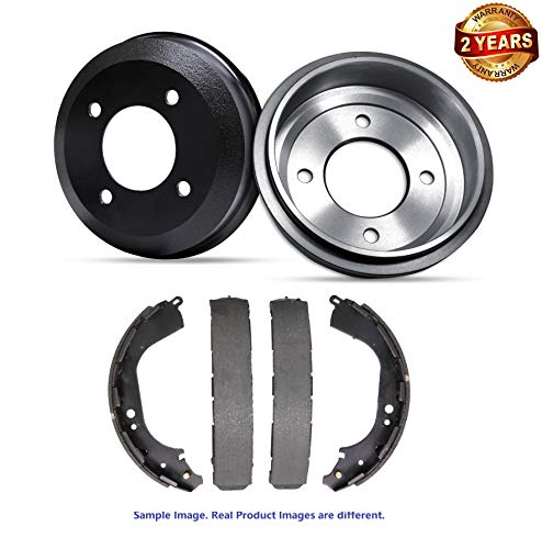 Inroble - For 1990 Chevrolet G10 Sportvan Premium Quality Rear Brake Drums and Drum Brake Shoes - Two Years Warranty