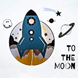 SMART WALLABY Wall Lamp & Decals Theme Set (Spaceship)