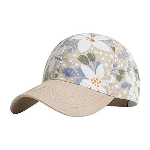 YOYOHO Gorra de béisbol con Estampado de Hojas Florales de Verano Unisex - 4#