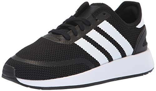 adidas Originals Unisex N-5923 J Running Shoe, White/Black, 4 M US Big Kid