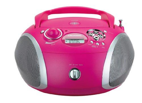 Grundig RCD 1445 - Microcadena de 12 W (CD, USB, MP3, FM, 3.5 mm), Rosa