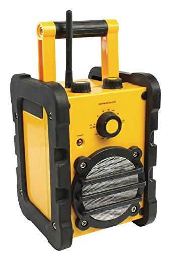 Eurosell Retro Design Baustellenradio IPX4 - UKW MW Radio + AUX-Eingang ! Batterie/Akku/Netz Betrieb