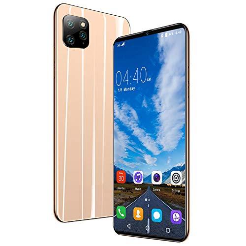 Moviles Libres 3G 6.1 Pulgadas Android 9.0 Tres Cámaras Traseras 8MP Cámara Frontal 5MP 1GB RAM 18GB ROM /128GB Memoria Expandida Telefono movil 4800mAh Móviles y Smartphone Libres,Gold