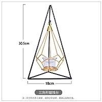 MAODING 錬鉄ハンギングラックデコレーションホームクラフト幾何学的キャンドルメタルティーライトキャンドルスタンドホルダー (Color : C)