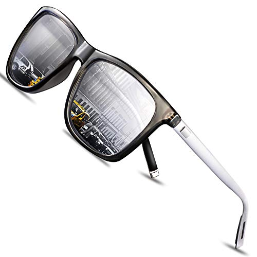 FEIDU Retro Polarisierte Damen Sonnenbrille- Herren Sonnenbrille Outdoor UV400 Brille,Farblinse, Strandreisen unerlässlich für Fahren Angeln Reisen FD 0628 (ZZ-Silber, 60)