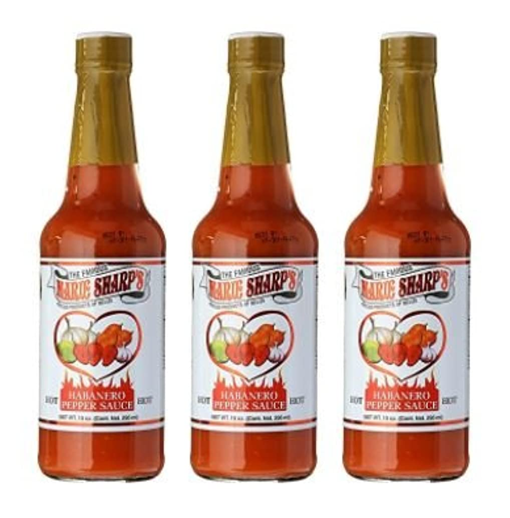 Marie Sharps Hot Sauce, Habanero Pepper, 10 Ounce (Pack of 3)