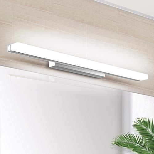LED Spiegelleuchte 40cm, SOLMORE Schminklicht Badleuchte Wandleuchte IP44 Wasserdichte Badlampe für Badzimmer und Wandbeleuchtung, 8W 700lm, Weißlicht 6000K, 220V