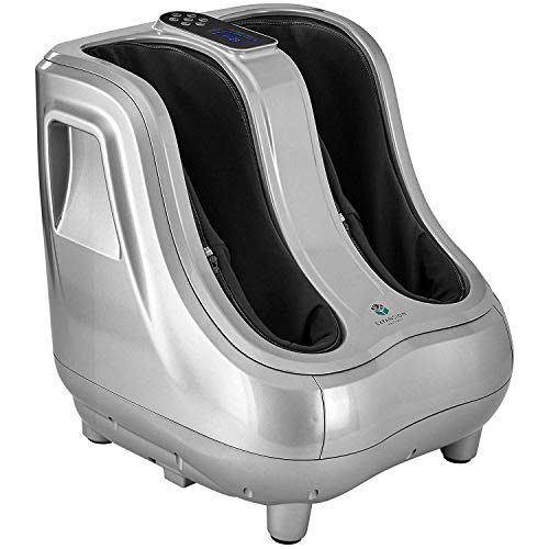 Shiatsu Heated Foot and Calf Massager Machine to Relieve Sore Feet, Ankles, Calfs and Legs, Deep Kneading Therapy, Relaxation Vibration and Rolling and Stimulates Blood Circulation Plantar Fasciitis